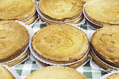 Typical Spanish cream homemade pie Stock Photography