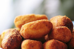 Typical Spanish cuisine dish chicken. Nuggets Royalty Free Stock Photography