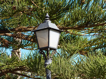 Typical Spanish decorated street lamp and lantern. Typical traditional classical Spanish decorated street lamp and lantern Costa Blanca Spain Royalty Free Stock Photos