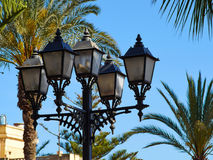 Typical Spanish decorated street lamp and lantern. Typical traditional classical Spanish decorated street lamp and lantern Costa Blanca Spain Stock Photos