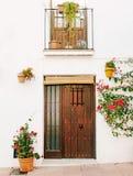 Typical Spanish door in Spain stock photo