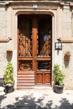 Typical Spanish entrance door to a home Royalty Free Stock Photos
