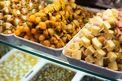 Typical spanish food market. Stock Images