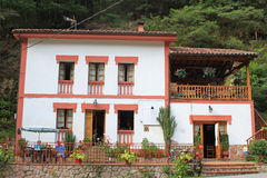 Typical spanish house in Asturias Stock Image