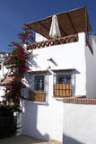 Typical spanish house with terrrace Stock Image