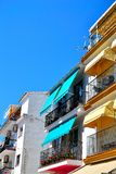 typical Spanish houses in Torremolinos in Spain Royalty Free Stock Images
