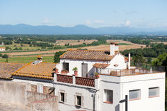 Typical Spanish landscape royalty free stock photography
