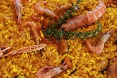 Typical spanish paella royalty free stock photos