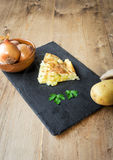 Typical Spanish potato omelet Stock Image
