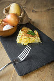 Typical Spanish potato omelet Stock Images