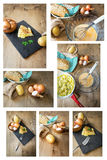 Typical Spanish potato omelet Royalty Free Stock Image