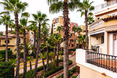 Typical spanish residential houses Stock Photography