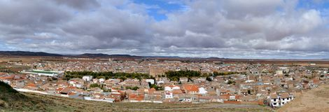 Typical Spanish town in plains of Central Spain Royalty Free Stock Photography