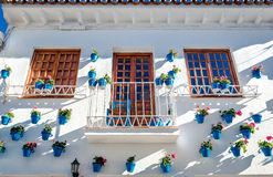 Typical spanish white village Royalty Free Stock Photography