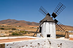 Typical Spanish Windmill Royalty Free Stock Images