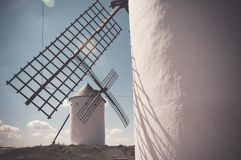 Typical spanish windmills Stock Image