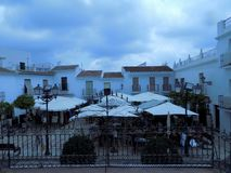 Typical square of Frigiliana Royalty Free Stock Images