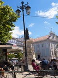Typical Square in Lisbon Portugal. Lisbon is one of the oldest cities in the world, and the oldest in Western Europe. Ruled by a series of Germanic tribes from stock images