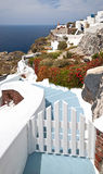 Typical staircase in Santorini Royalty Free Stock Images