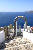 Typical stairway in Santorini Royalty Free Stock Images