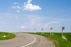 Typical steppe road Stock Image