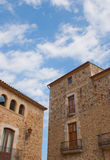 Typical stone buildings of Pals Stock Images
