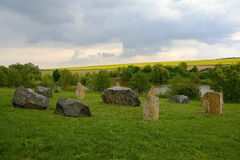 Typical Stone Circle, Czech Republic, Europe Stock Photo