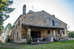 Typical stone farmhouse in Italy Stock Image