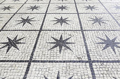 Typical stone floor of Lisbon Royalty Free Stock Photo