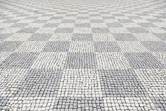 Typical stone floor of Lisbon Royalty Free Stock Photography