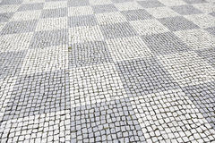 Typical stone floor of Lisbon Stock Photos
