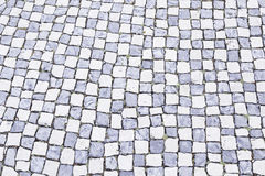 Typical stone floor of Lisbon Royalty Free Stock Images