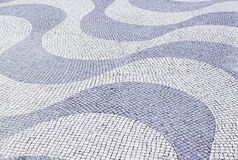 Typical stone floor of Lisbon Stock Photo
