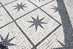 Typical stone floor Lisbon Royalty Free Stock Image