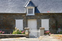 Nice house in french Brittany. Typical stone house in french Brittany Royalty Free Stock Image