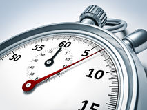 Typical stopwatch. An image of a red typical stopwatch Stock Photo