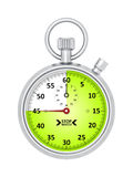 Typical stopwatch 45 seconds. An image of a typical stopwatch 45 seconds vector illustration