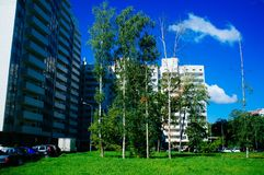 Russian Motherland - Moscow Residential buildings Stock Images