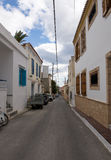 The typical street at Aegina island Royalty Free Stock Images