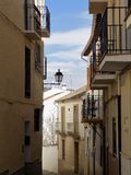 Typical street-Alhama de Granada Royalty Free Stock Images