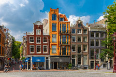 Typical street in Amsterdam Stock Images