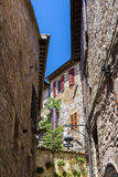 Typical street of Assisi, medieval italian town Stock Image