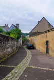 Typical street in Autun Royalty Free Stock Photo