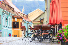 Typical street cafe bar Royalty Free Stock Images