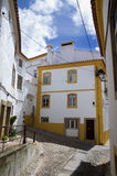 Typical Street in Castelo de Vide. Typical narrow streets in the historic part of Castelo de Vide. Alentejo, Portugal Royalty Free Stock Photo