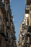 Typical street in cefalù palermo sicily italy europe Stock Photos