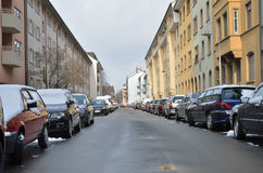 Typical street in the city Konstanz Royalty Free Stock Photography