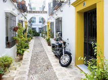 Typical street of Cordoba old town. Andalusia, Spain. Stock Photography