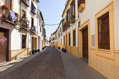 Typical street in Cordoba's downtown Royalty Free Stock Photos