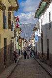 Typical street Cuzco city Peru Royalty Free Stock Photography
